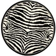 "Safavieh Lyndhurst Collection Zebra Polypropylene 5'3"" x 5'3"""
