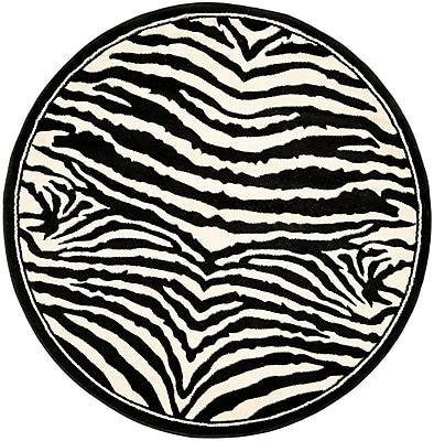 Safavieh Lyndhurst Collection Zebra Polypropylene 5'3