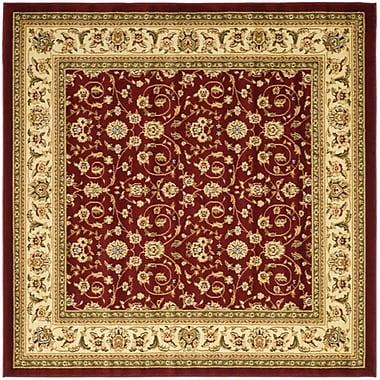 Safavieh Lyndhurst Collection Red/Ivory Square Area Rug Polypropylene, 8'
