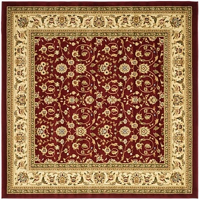 Safavieh Lyndhurst Collection Red/Ivory Square Area Rug Polypropylene, 8'