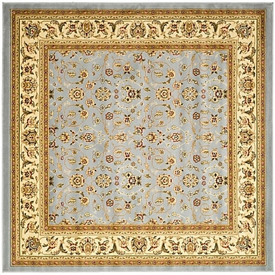 Safavieh Polypropylene Traditional Lyndhurst Light Blue & Ivory Square Area Rug 4' x 4'
