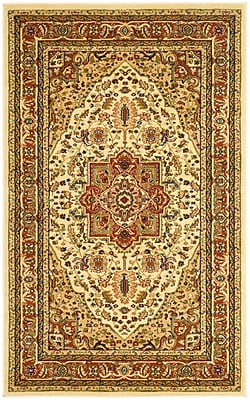 Safavieh Lyndhurst Collection Ivory and Rust Area Rug Polypropylene, 3'3