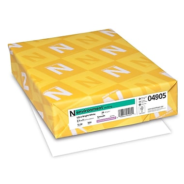 Neenah Paper Environment® 48M 24 lbs. Smooth Watermarked Cover, 8.5