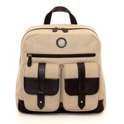 "Jill-e Designs Woven Fabric Backpack For 13"" Laptop, Tan/Brown"