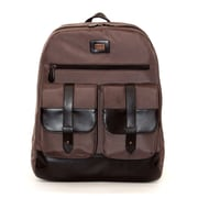 "Jill-e Designs Jack Ballistic Nylon Backpack For 15"" Laptop, Brown"