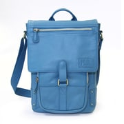 "Jill-e Designs™ Emma 11"" Leather Laptop Bag, Blue"