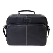 "Jill-e Designs™ Jeremy 13"" Leather Laptop Bag, Black"