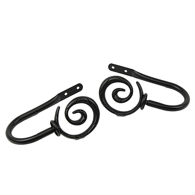 Rod Desyne Metal & Steel Spiral Decorative Holdback Pair