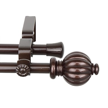 Rod Desyne Steel & Resin Pumpkin Double Curtain Rod, 48