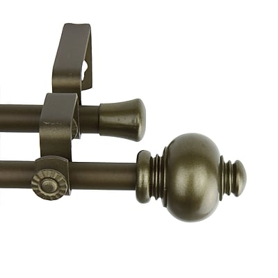 Rod Desyne Steel & Resin Knob Double Curtain Rod, 48