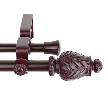 Rod Desyne Metal & Resin Tulip Double Curtain Rod