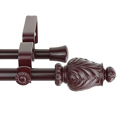 Rod Desyne Metal & Resin Tulip Double Curtain Rod, 48