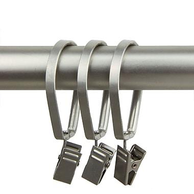Rod Desyne Metal Curtain Pivot Rings, Satin Nickel