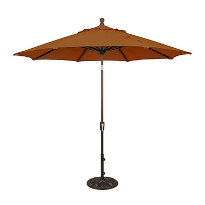 Blue Wave Catalina II 9' Octagonal Market Umbrella With Auto-Tilt, Terra Cotta Olefin