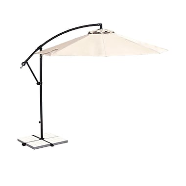 Blue Wave Santiago 10' Octagonal Cantilever Umbrella With Canopy Tilt, Champagne Olefin