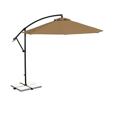 Blue Wave Santiago 10' Octagonal Cantilever Umbrella With Canopy Tilt, Stone Olefin