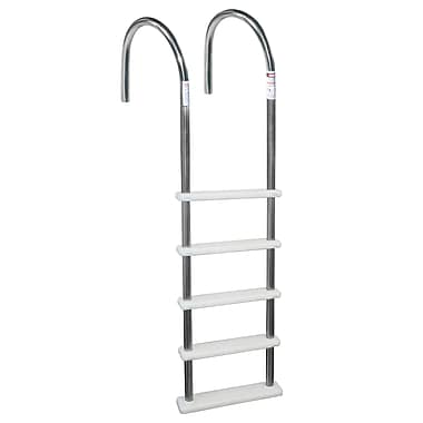 Blue Wave Standard Stainless Steel In-Pool Ladder, White
