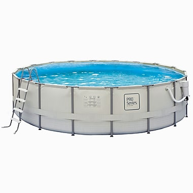 Pro Series™ Round Metal Frame Swimming Pool, 18'(Dia) x 52