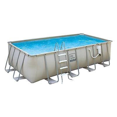 Pro Series™ Rectangular Metal Frame Swimming Pool, 18'(L) x 9'(W) x 52