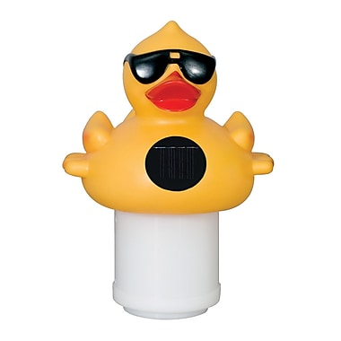 Blue Wave Derby Duck Solar Light Up Pool and Spa Chlorinator, Yellow