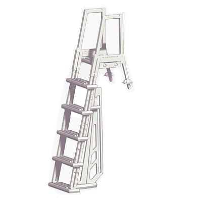 Blue Wave Deluxe Heavy Duty In-Pool Ladder For Above-Ground Pools, White
