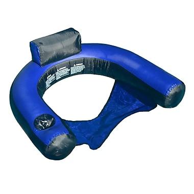 Swimline® Fabric Covered U-Seat Inflatable Pool Chair, Blue