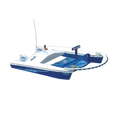 Blue Wave™ Jet Net Remote Control Boat Pool Skimmer, White/Blue