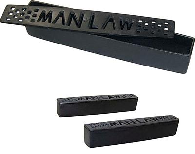 Man Law™ BBQ 2 Piece Pre-Seasoned Cast Iron Grill Humidifier Set