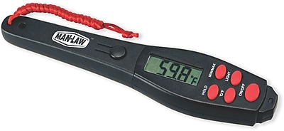 Man Law™ BBQ Premium Grade Stainless Steel Digital Instant Read Gauge Thermometer