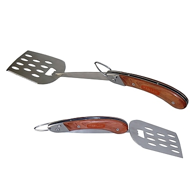 Man Law™ BBQ Heavy Duty Stainless Steel Foldable Spatula With Serrated Edge