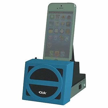 DOK™ Speaker Cradle With Rechargeable Battery, Blue