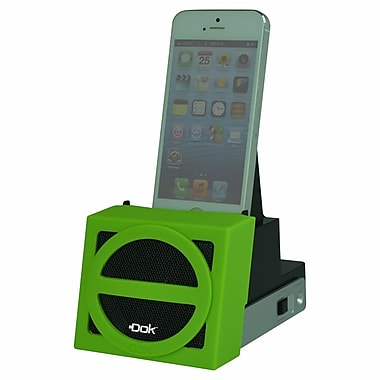 DOK™ Speaker Cradle With Rechargeable Battery, Green