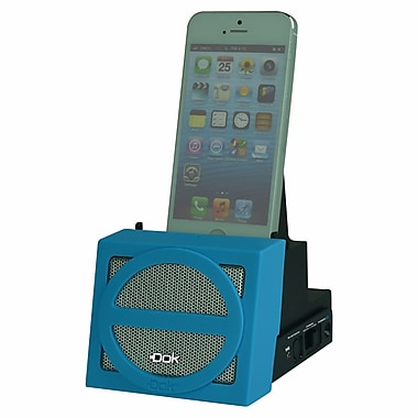 DOK™ Portable Universal Cradle With Speaker System (Bluetooth)/Rechargeable Battery, Blue