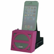 DOK™ Portable Universal Cradle With Speaker System (Bluetooth)/Rechargeable Battery, Pink