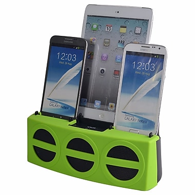 DOK™ 5 Port Smart Phone Charger With Bluetooth Speaker and Speaker Phone, Green