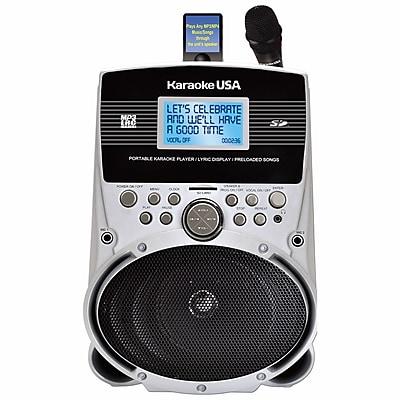 Karaoke USA SD516 Portable Karaoke MP3 Lyric Player With 3.2