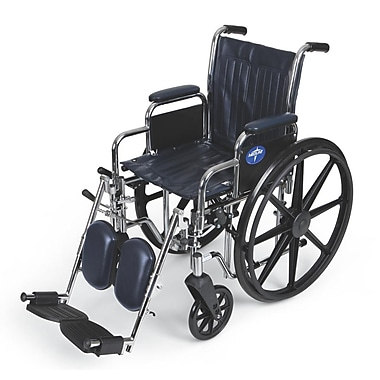 Medline Excel Carbon, Steel Wheelchair, Navy