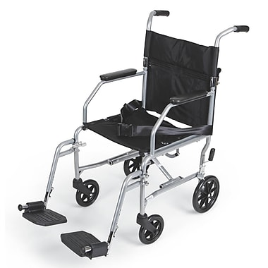 Medline Basic Steel Transport Chair Carbon Steel Wheelchairs