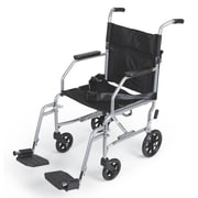 Medline Basic Steel Transport Chair Carbon Steel Wheelchairs