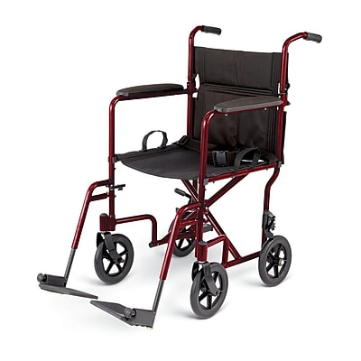 Medline Excel Standard Basic Aluminum Transport Chair
