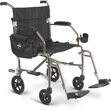 Medline Ultra Lightweight Transport Wheelchair , Silver