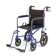 Medline Transport Wheelchair, Blue