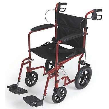 Medline Transport Wheelchair, Red