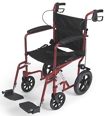 Medline Transport Wheelchair, Red