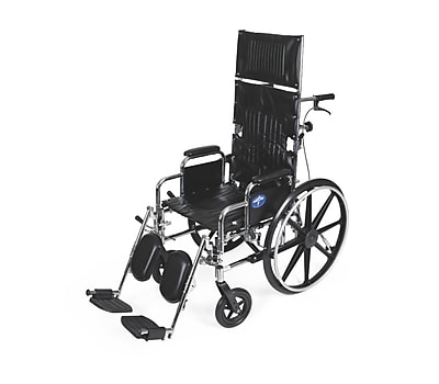 Medline Excel Reclining Carbon Steel Wheelchairs