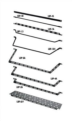 Middle Atlantic VRK Series 19'' W Horizontal Lacer Bars (Round); 4''