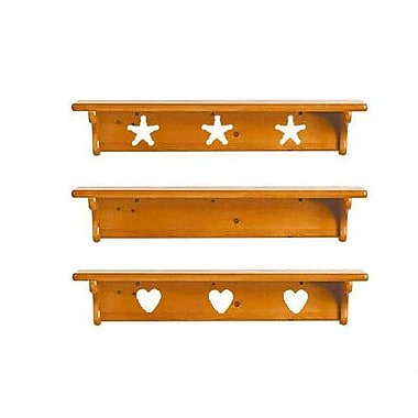 Little Colorado Wall Shelf without Pegs- Star; Soft Pink