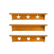 Little Colorado Wall Shelf without Pegs- Star; Sanded / Unfinished