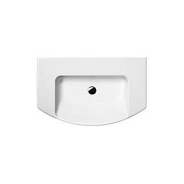 GSI Collection Modo Ceramic Rectangular Drop-In Bathroom Sink w/ Overflow; 8'' Centers