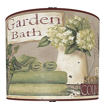 Illumalite Designs Garden Bath Polystyrene Drum Lamp Shade; 7''